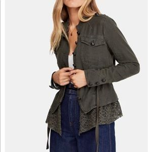 Free People - NWOT military style jacket